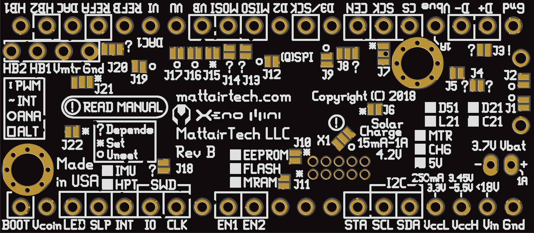 Xeno Mini - SAMD51 / D21 / L21 / C21 USB development board
