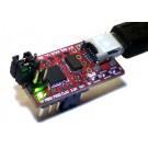 Breadboard USB TTL serial converter and AVRISP mkII AVR programmer
